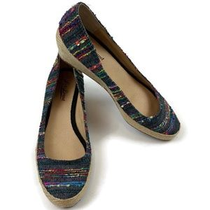 Lucky Brand Tilly Espadrille Wedge Multicolor Sz 7